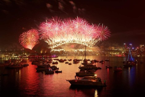 Fireworks over Sydney Harbour..courtesy SMH.