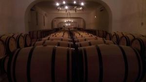 The barrel hall at La Tour Carnet